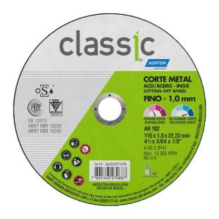 """Disco Corte 4.1/2"""" Fino 1.0Mm Classic Norton"""