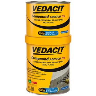 Adesivo Epoxi Compound Tix 1Kg A+B Vedacit