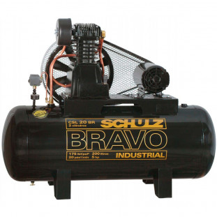 Compressor Ar Csl -20Br/200 175L -5Hp Bravo Schulz 220/380V