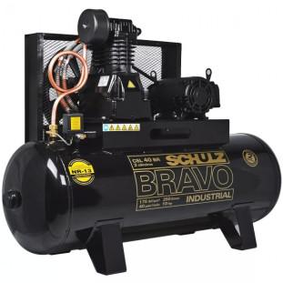 COMPRESSOR AR CSL-40BR/250 175L 10HP BRAVO 220/380V SCHULZ