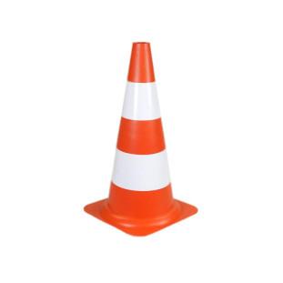 Cone 75CM Pvc Laranja/Branco Plastcor